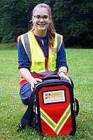 Doreena rettete als ASB-Schulsanitäterin ihrem Nachbarn das Leben. Foto: ASB Wiesbaden / R. Fuhrmann.